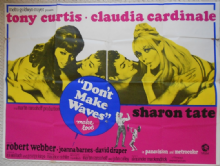 Don't Make Waves Make Love, Original UK Quad Poster, Tony Curtis, Fabulous Sharon Tate image, '67